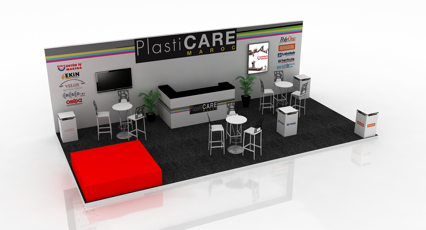 Stand plasticare foire exposition plv fabrication pixad for Fabricant de stand
