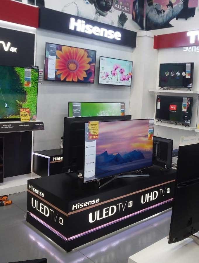 stand-produit-de-TV-magasin-et-grande-surfaces--stand-de-présentation-de-produit-TV-maroc-Hisense--stand-de-présentation-
