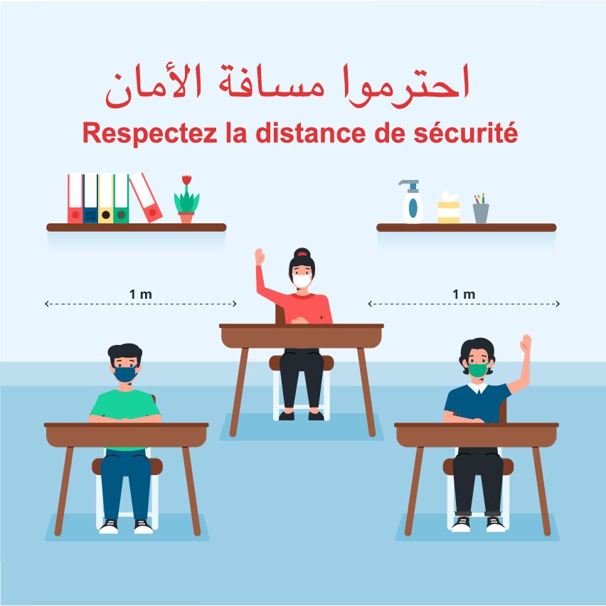 affiches école COVID19 pour Ecole Maroc coronavirus mesures de sécurité signalétique covid19 ecole sécurité enfants ecole maroc