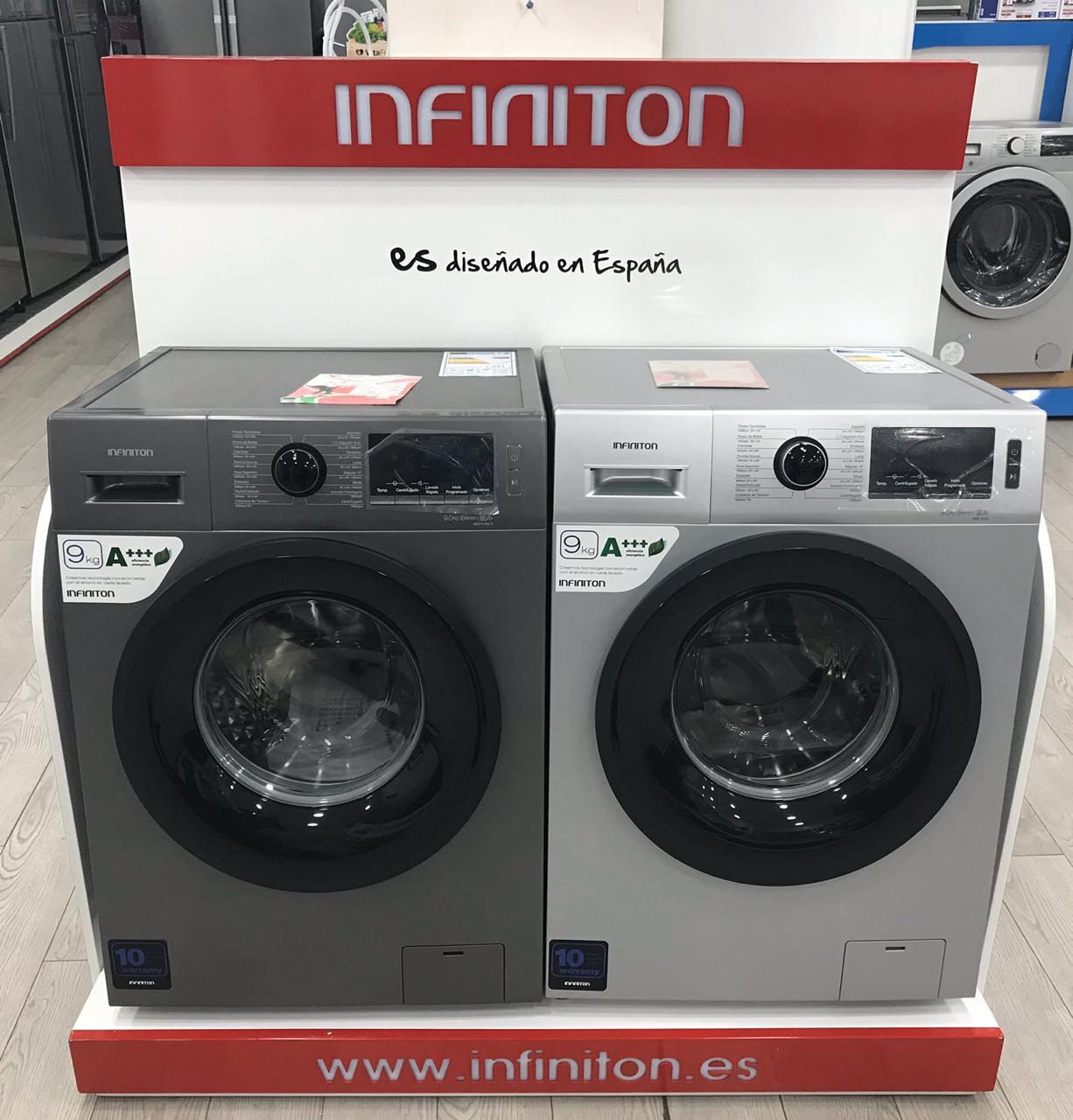 Présentoir-électroménager-stand-déxposition-machine-à-laver-présentoir-lave-linge-PLV-presentoir-magasin-décoration-showroom-design-casablanca-maroc